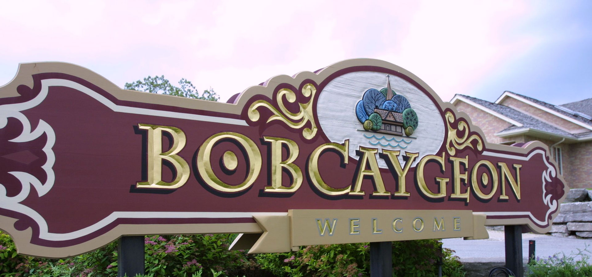 Welcome sign at the Bobcaygeon Inn