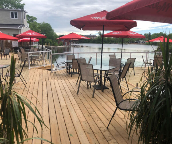 Patio at the Bobcaygeon Inn